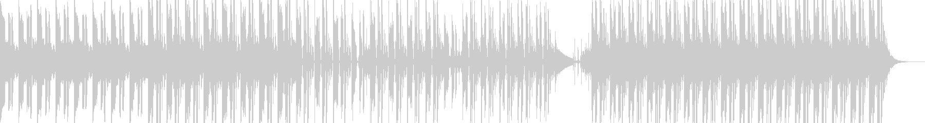 哀愁感のある音とビートが特徴的なポップスの未再生の波形
