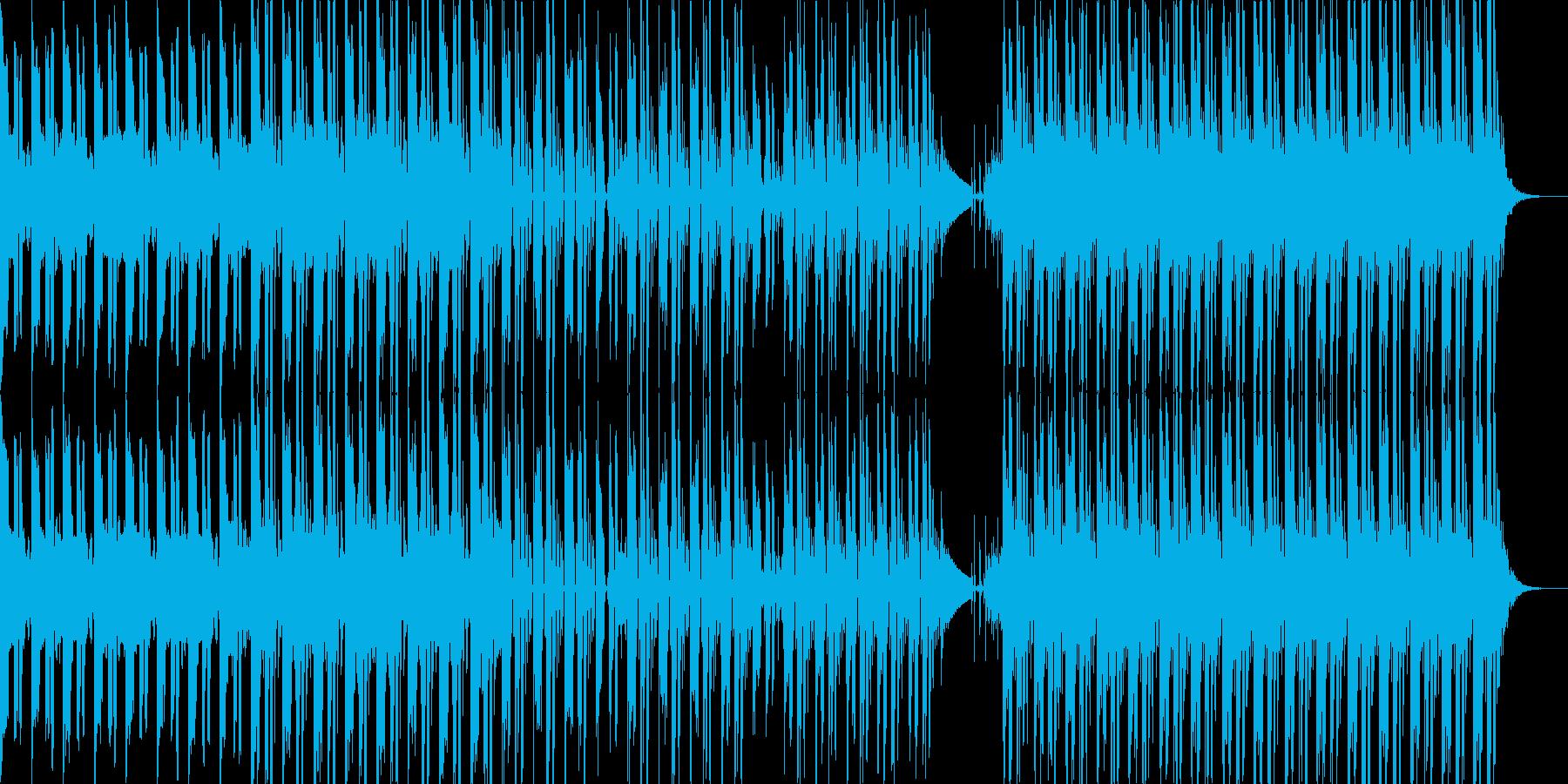 哀愁感のある音とビートが特徴的なポップスの再生済みの波形