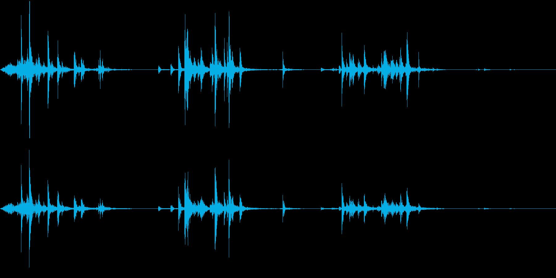 【生録音】ハンガーの音 3 探すの再生済みの波形