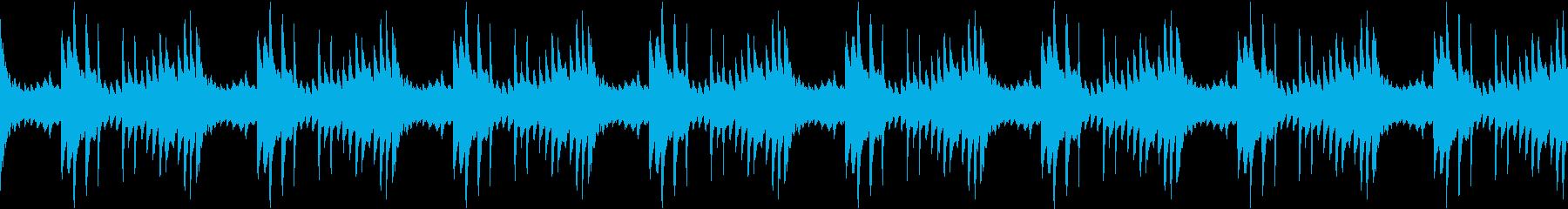 素朴で優しげな企業映像向けピアノの再生済みの波形