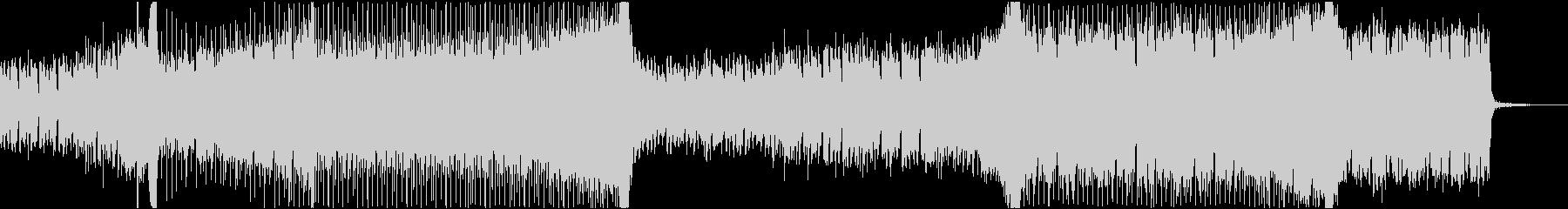 陽気なEDMっぽいBGMの未再生の波形