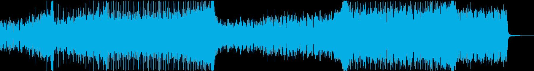 陽気なEDMっぽいBGMの再生済みの波形