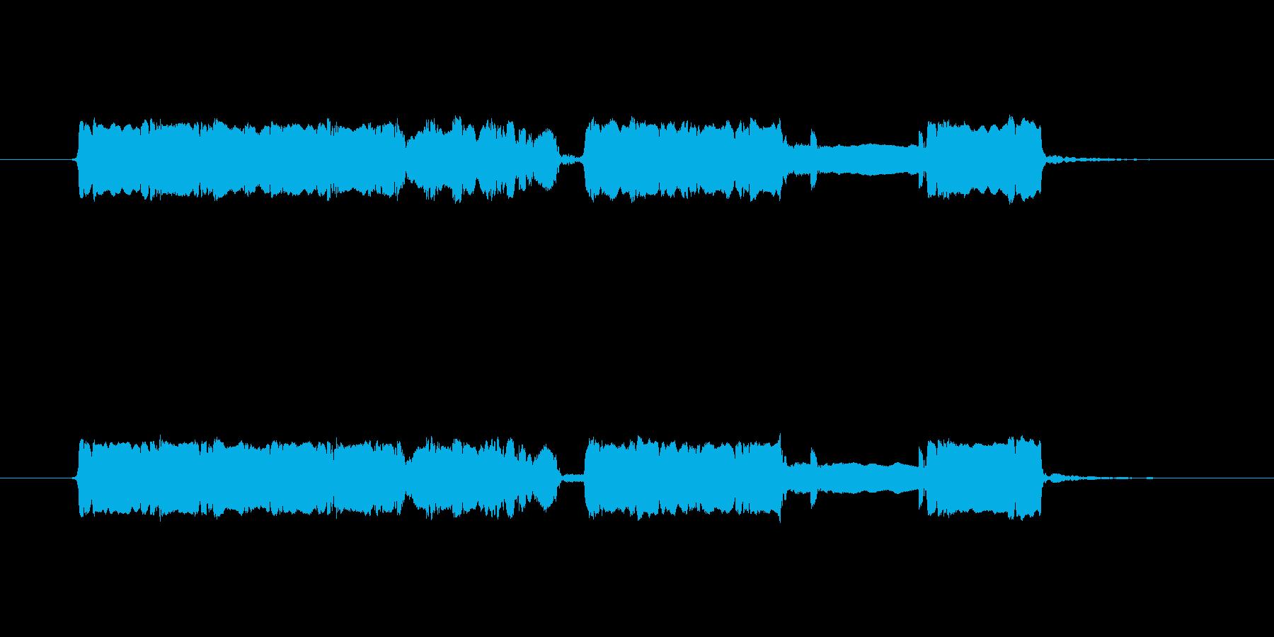 神楽風 篠笛生演奏のジングルの再生済みの波形