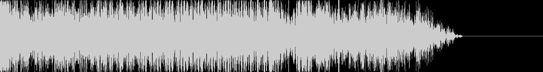 サイバーな音のグリッチのテープストップの未再生の波形