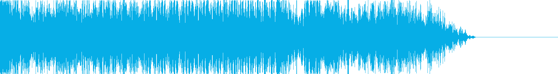 サイバーな音のグリッチのテープストップの再生済みの波形