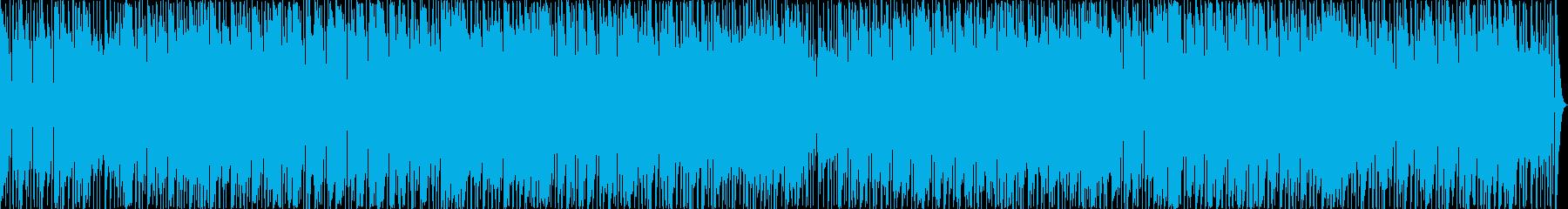 音符が細かい楽しい16ビートサウンドの再生済みの波形