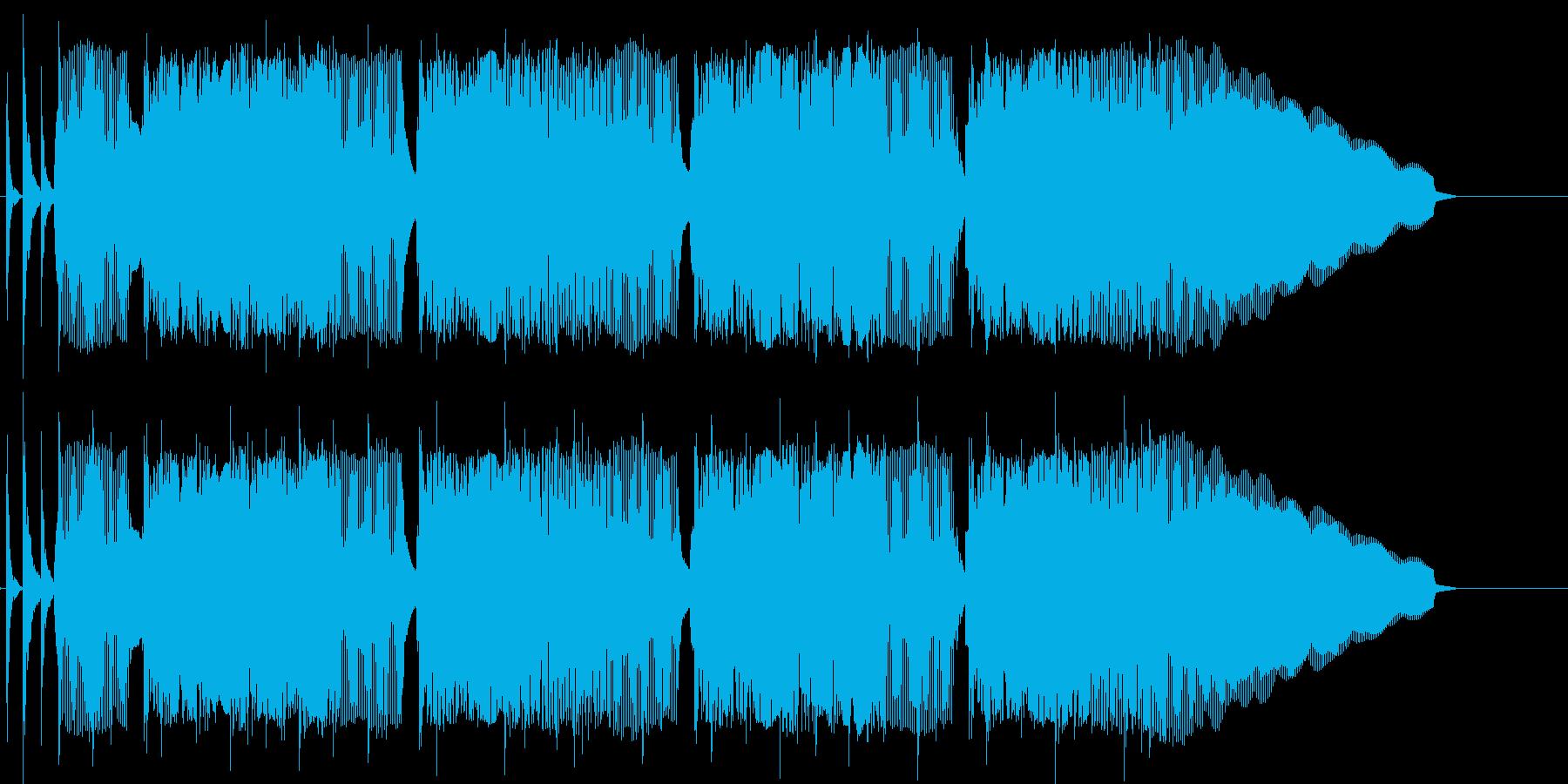 徘徊するヤンキーをイメージしたジングルの再生済みの波形