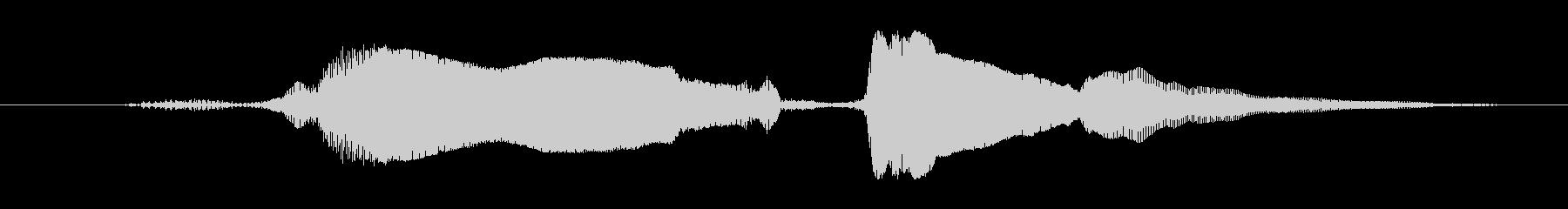 鳴き声 u湖大興奮女性01の未再生の波形