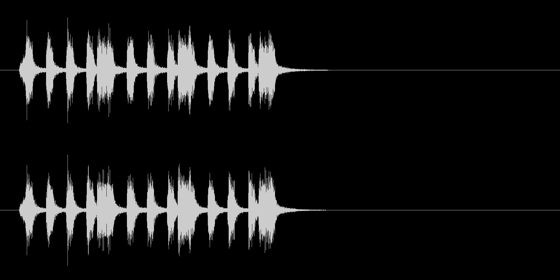 ジングル(タンゴ風)の未再生の波形