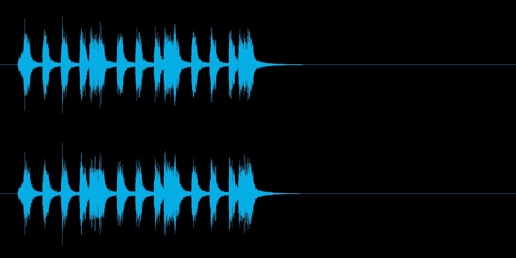 ジングル(タンゴ風)の再生済みの波形