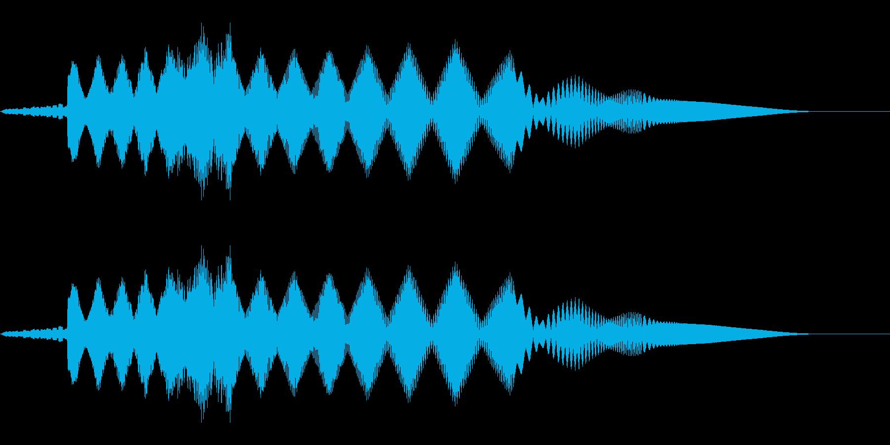 ピョーイ(ノイズ/不思議/ファミコン宇宙の再生済みの波形