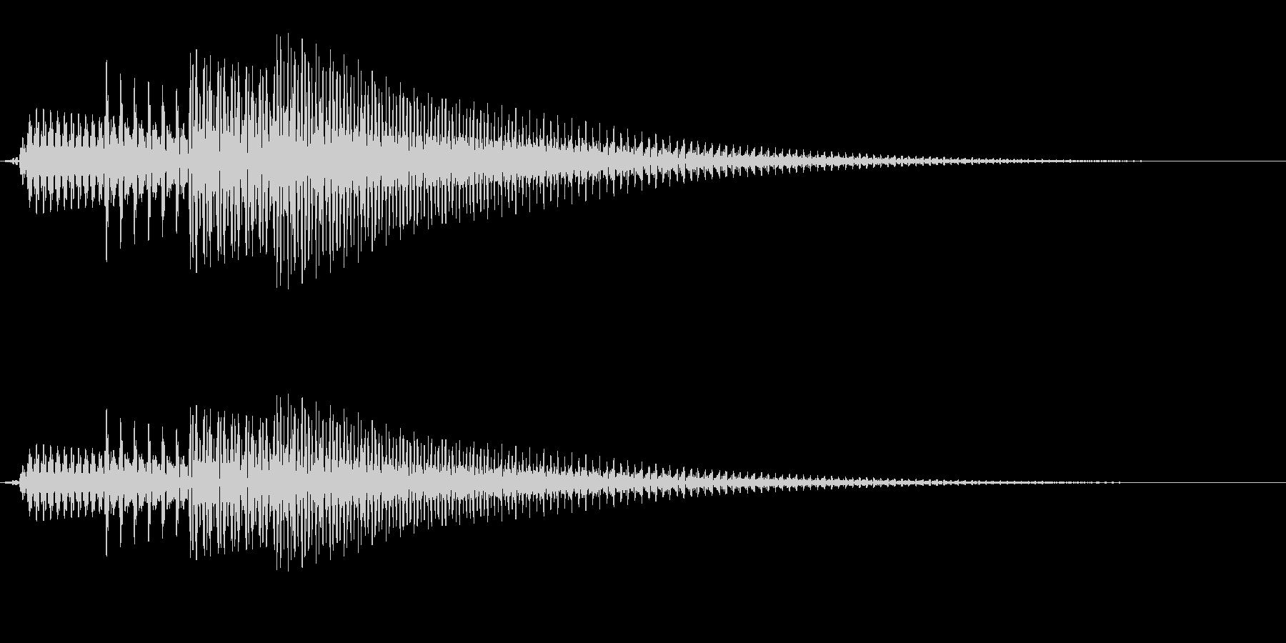 シンプルな通知音_02の未再生の波形