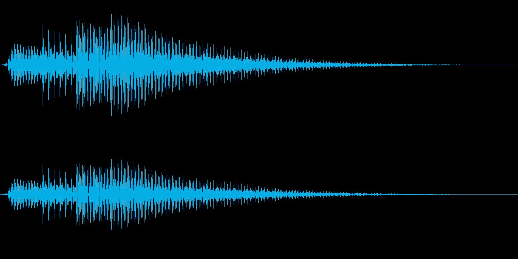 シンプルな通知音_02の再生済みの波形