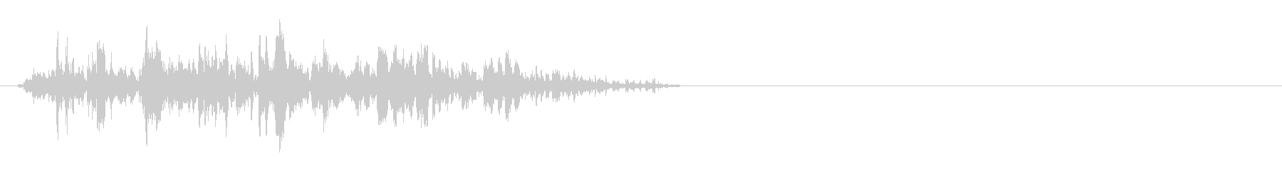石臼を挽く音の未再生の波形