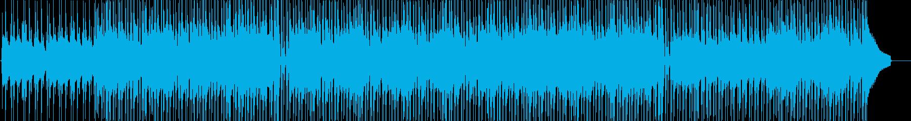 楽しくスキップするようなウクレレの再生済みの波形