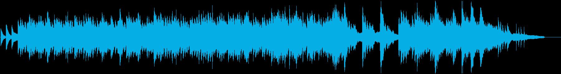 ピアノとストリングスのほのぼのしたBGMの再生済みの波形