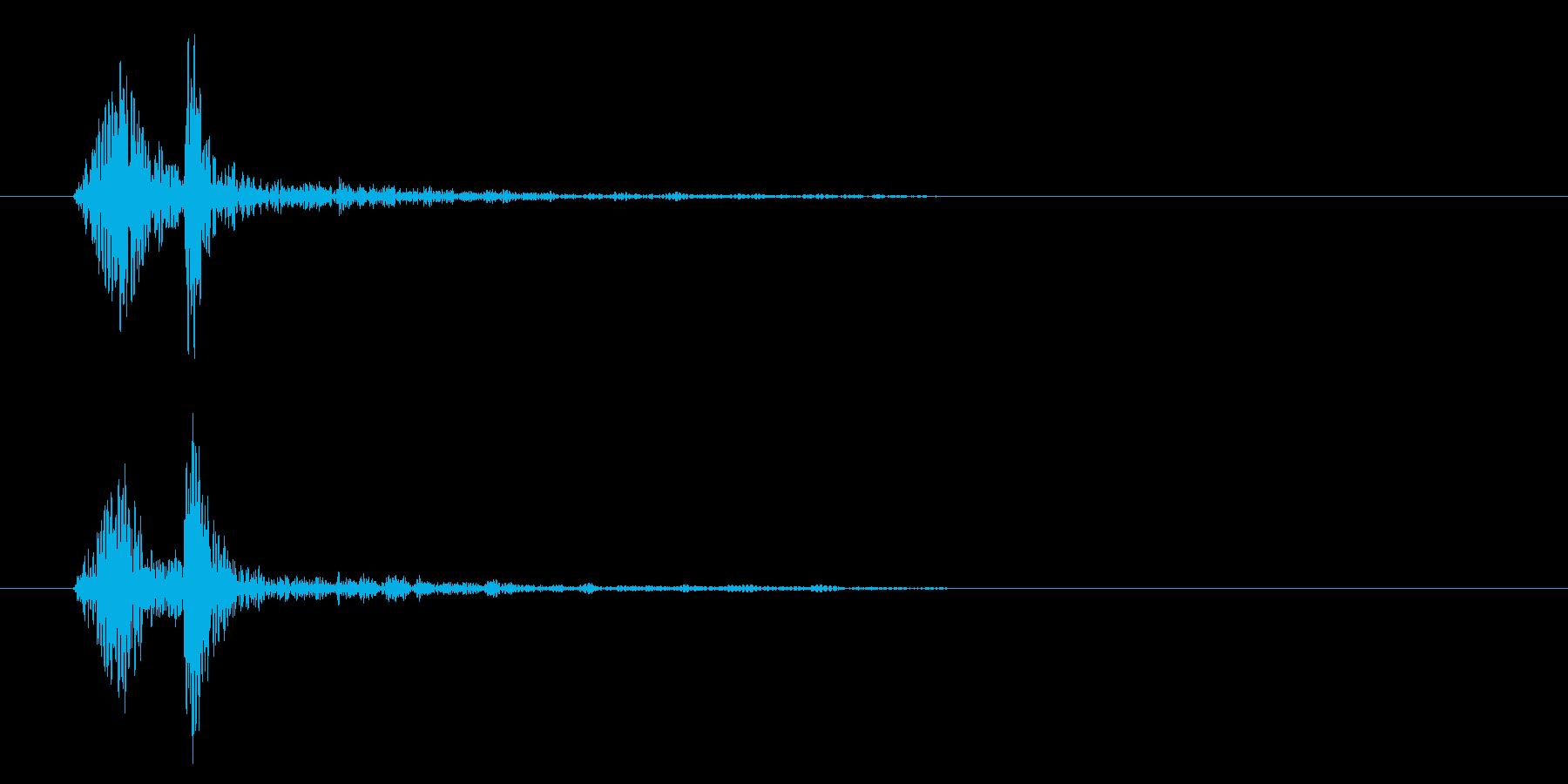 パッ(弾けるような軽快な音)の再生済みの波形