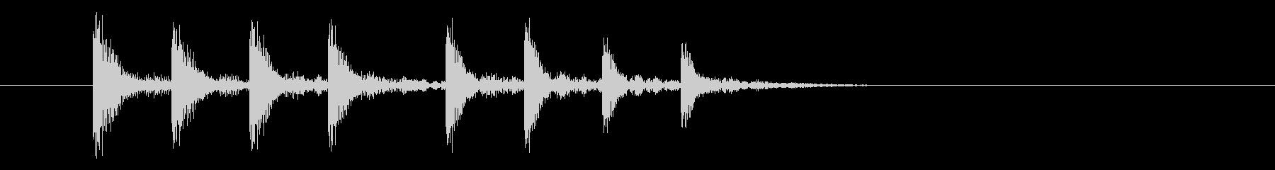 漫画木琴グリスアップの未再生の波形