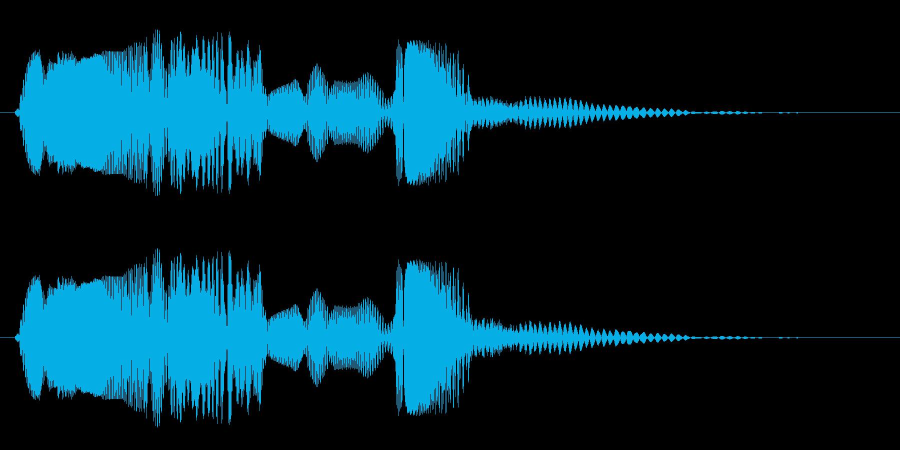ヒュルルバシューン(落下)速いの再生済みの波形