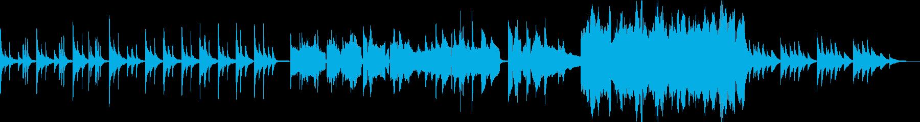 ゆったりハープとフルートの夢のような曲の再生済みの波形
