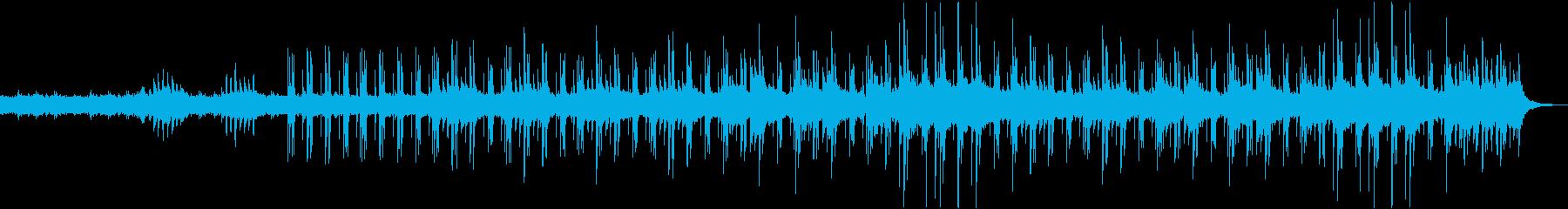 不気味で落ち着きのあるBGMの再生済みの波形