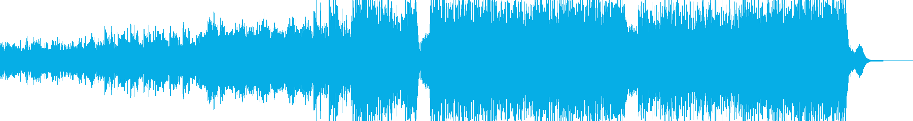 迫力のある映像向オーケストラBGMの再生済みの波形