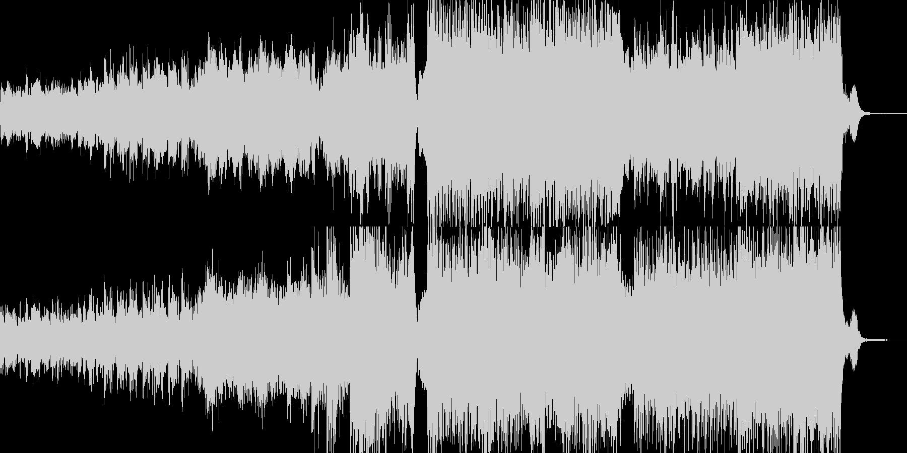 迫力のある映像向オーケストラBGMの未再生の波形