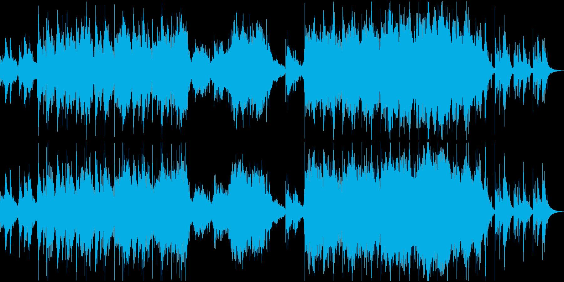 森の遺跡のような神秘的な楽曲の再生済みの波形