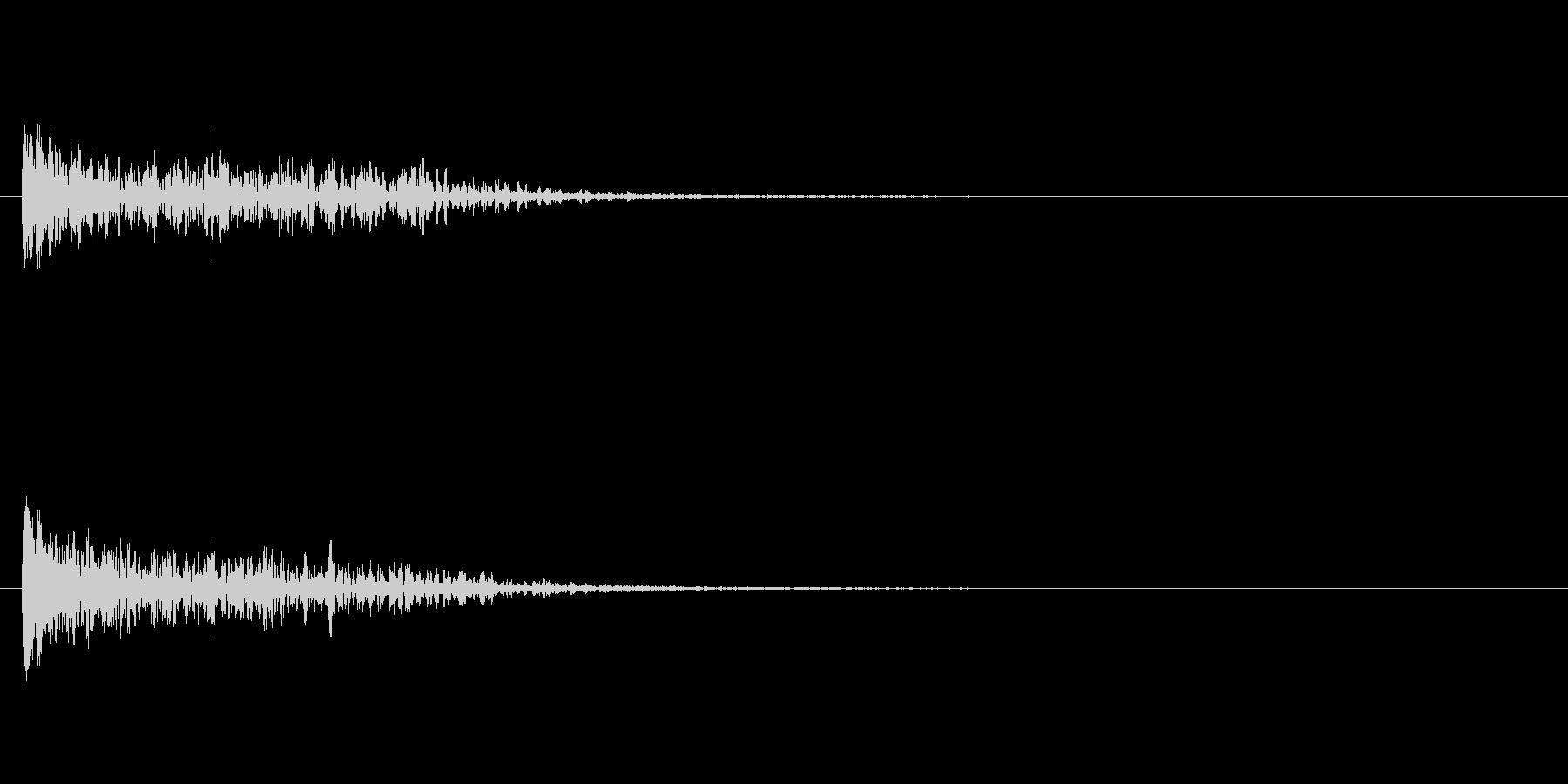 トーナルボタン1・始まりのロゴ・ビーンの未再生の波形