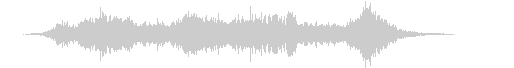 迫力のタイトルロゴ(宇宙・SFホラー)の未再生の波形