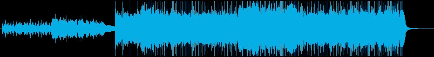 ヨナ抜き音階の和ロックの再生済みの波形