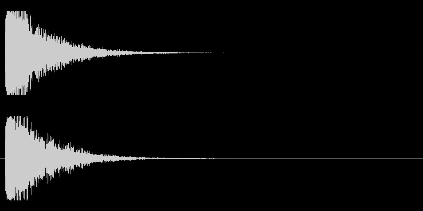 レーザー音-21-1の未再生の波形