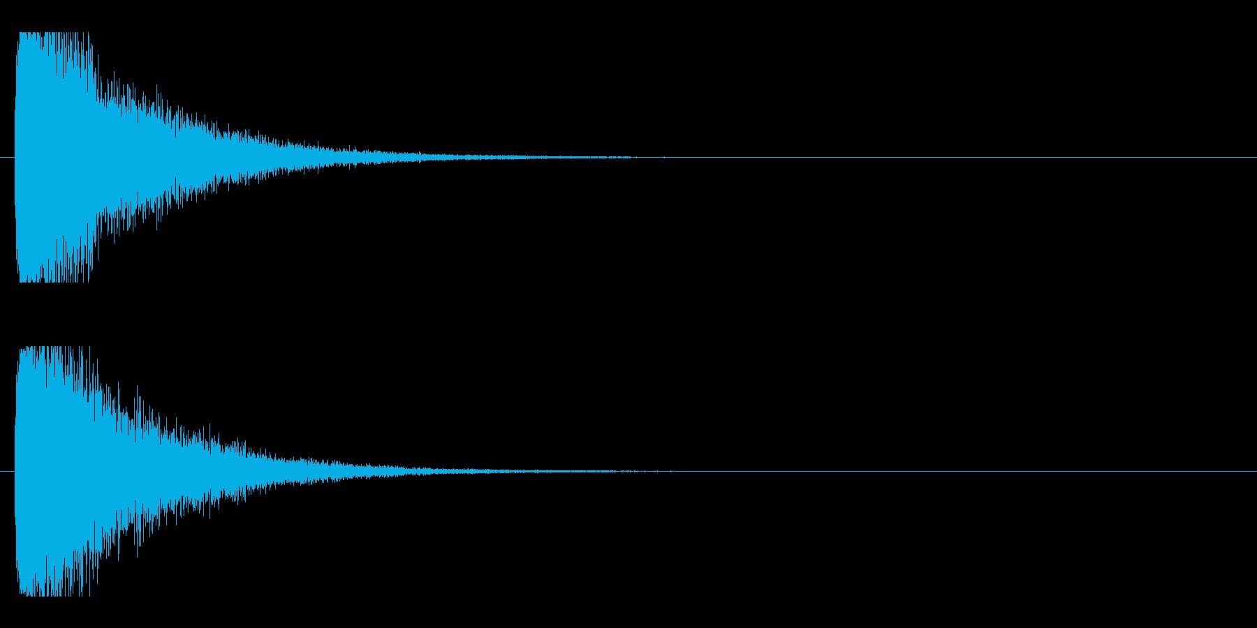 レーザー音-21-1の再生済みの波形