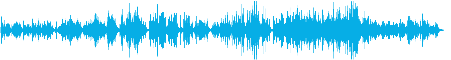 沈黙の冬夜をイメージした生演奏BGMの再生済みの波形