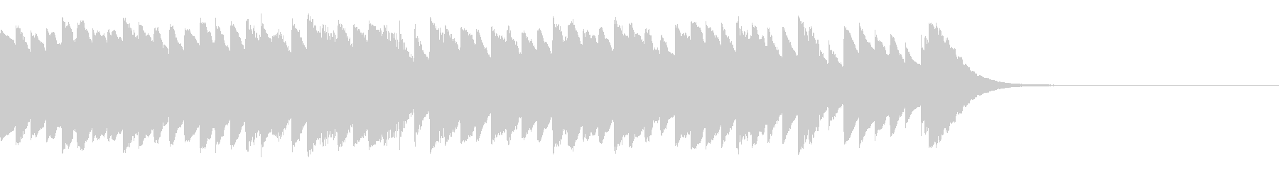 オルゴール おやすみ 冬 ジングル・ロゴの未再生の波形