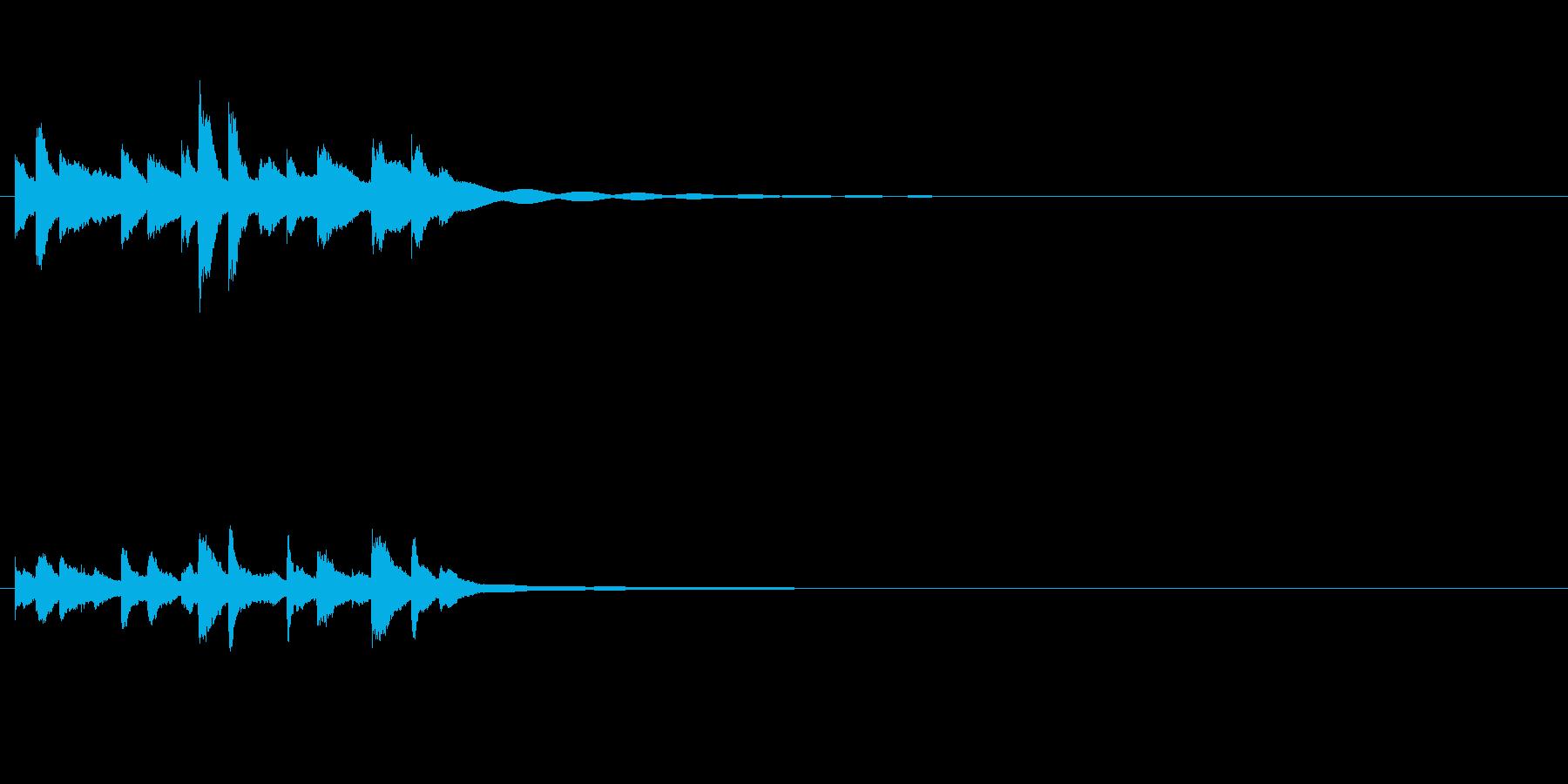 和製ベルの鈴(れい)の清らかな音の再生済みの波形