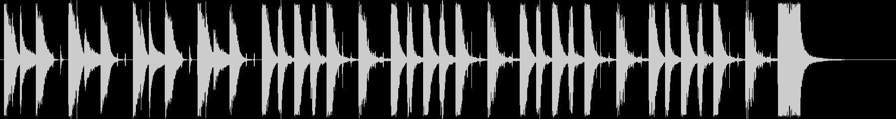 辺りを探るショートミュージックの未再生の波形
