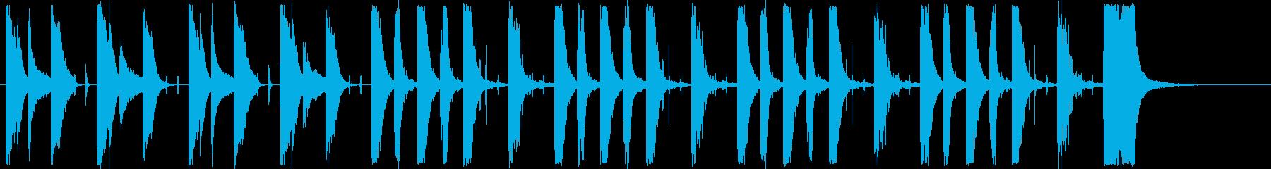 辺りを探るショートミュージックの再生済みの波形
