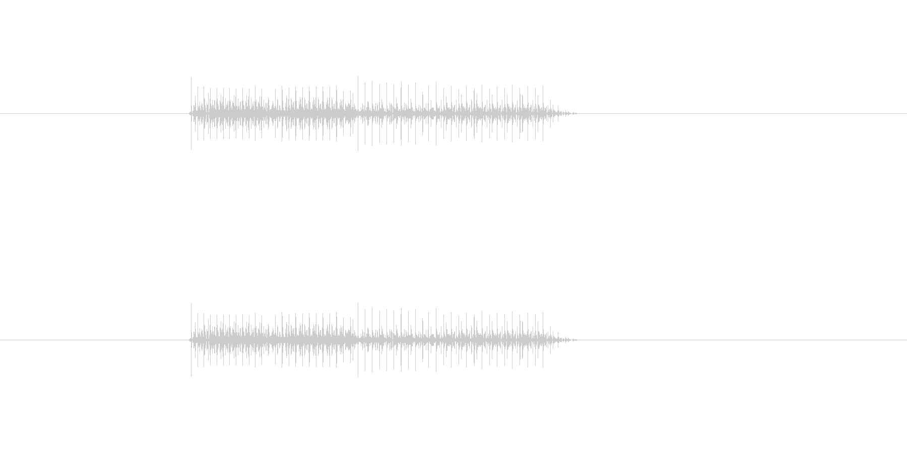 アイテム使用不可等の否定音の未再生の波形