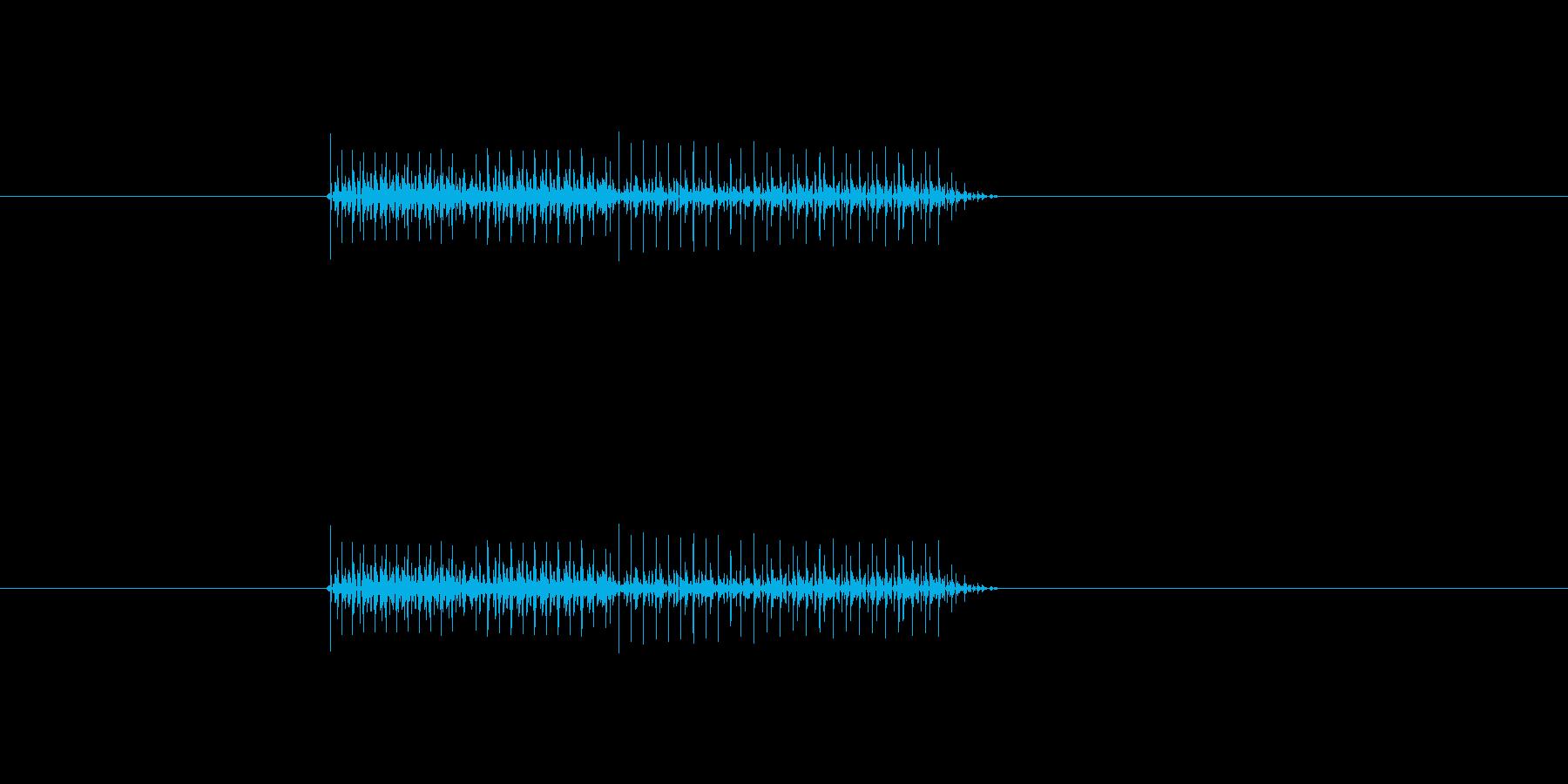 アイテム使用不可等の否定音の再生済みの波形