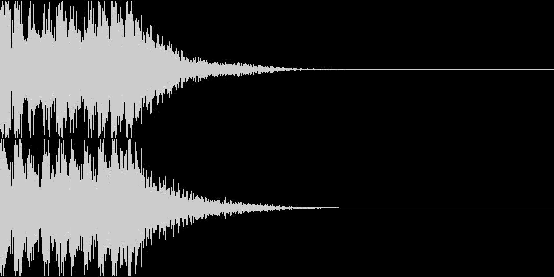和楽器による和風なジングルの未再生の波形
