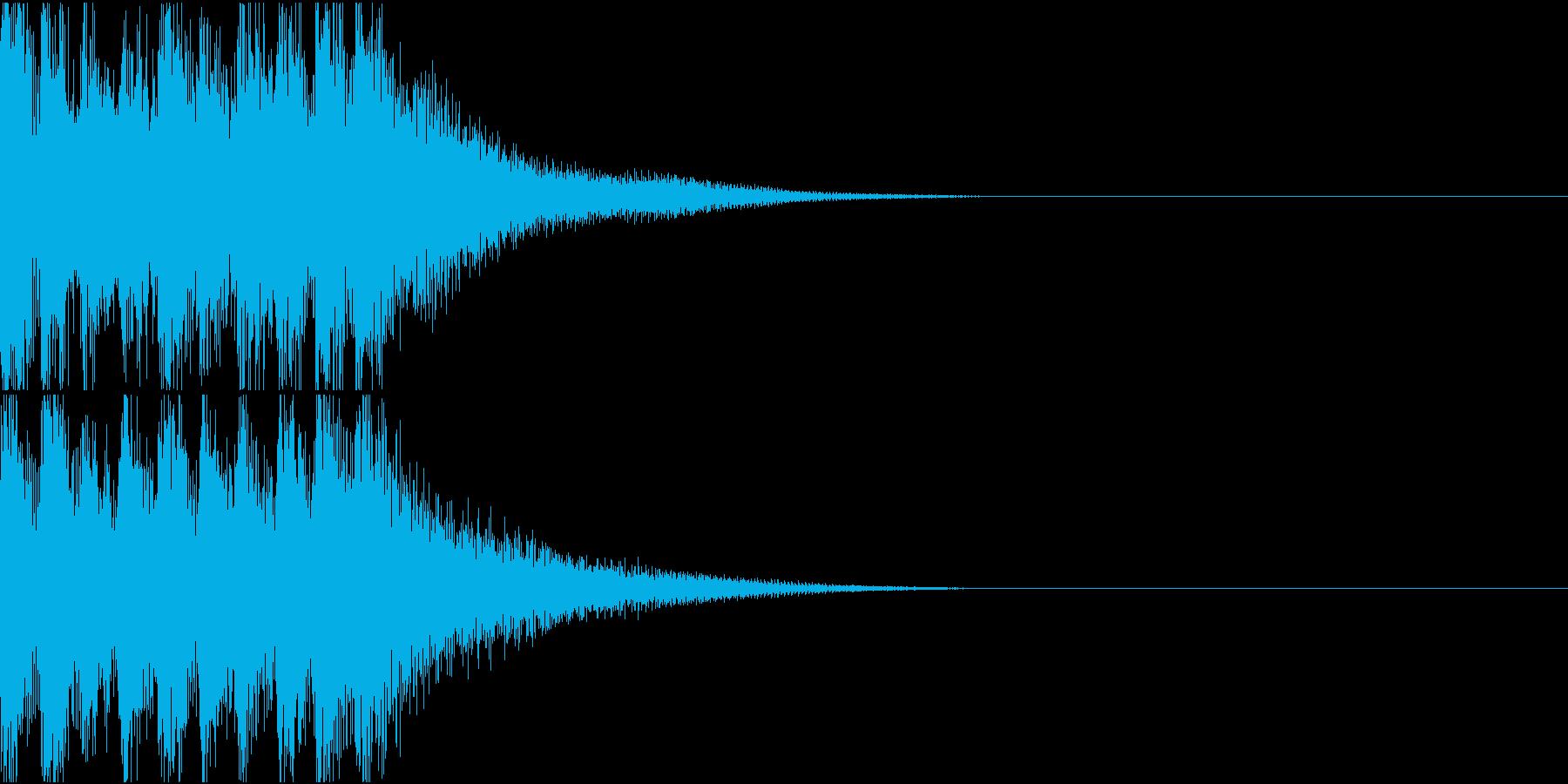 和楽器による和風なジングルの再生済みの波形