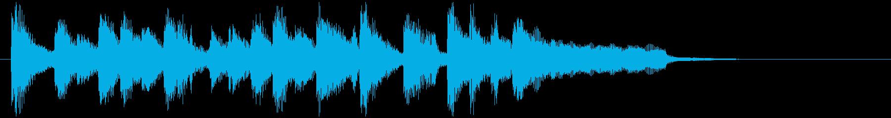 ポップに場面転換、軽快ウクレレのジングルの再生済みの波形