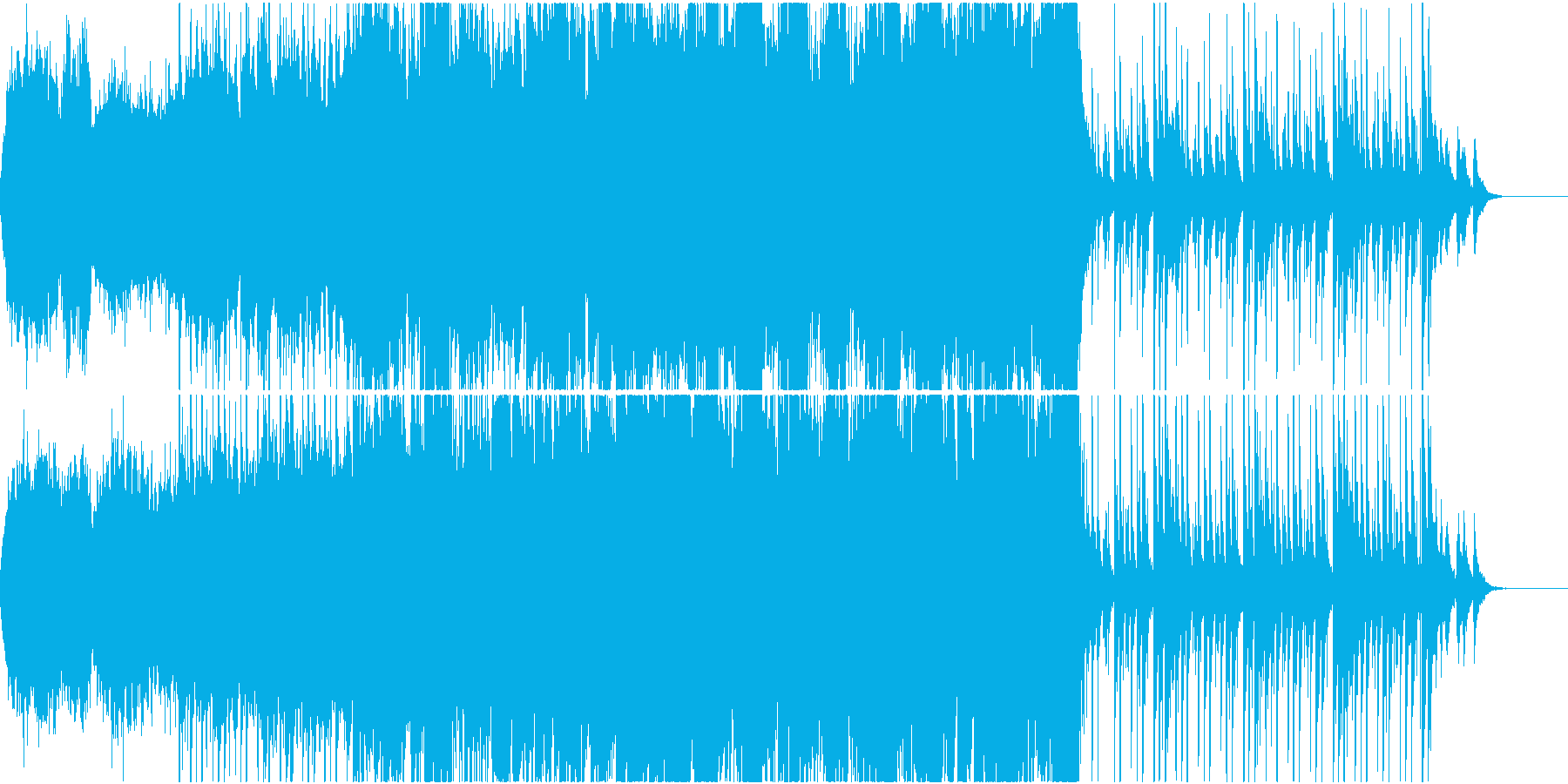 和太鼓を取り入れたストリングス曲の再生済みの波形