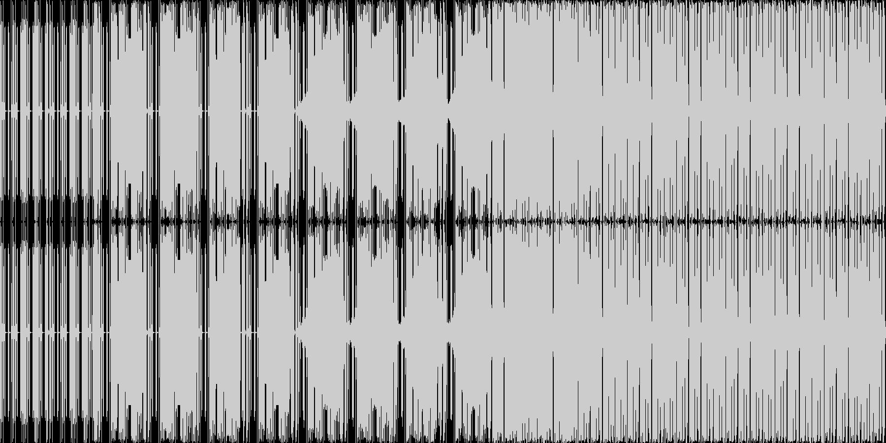 軽快な曲ですの未再生の波形