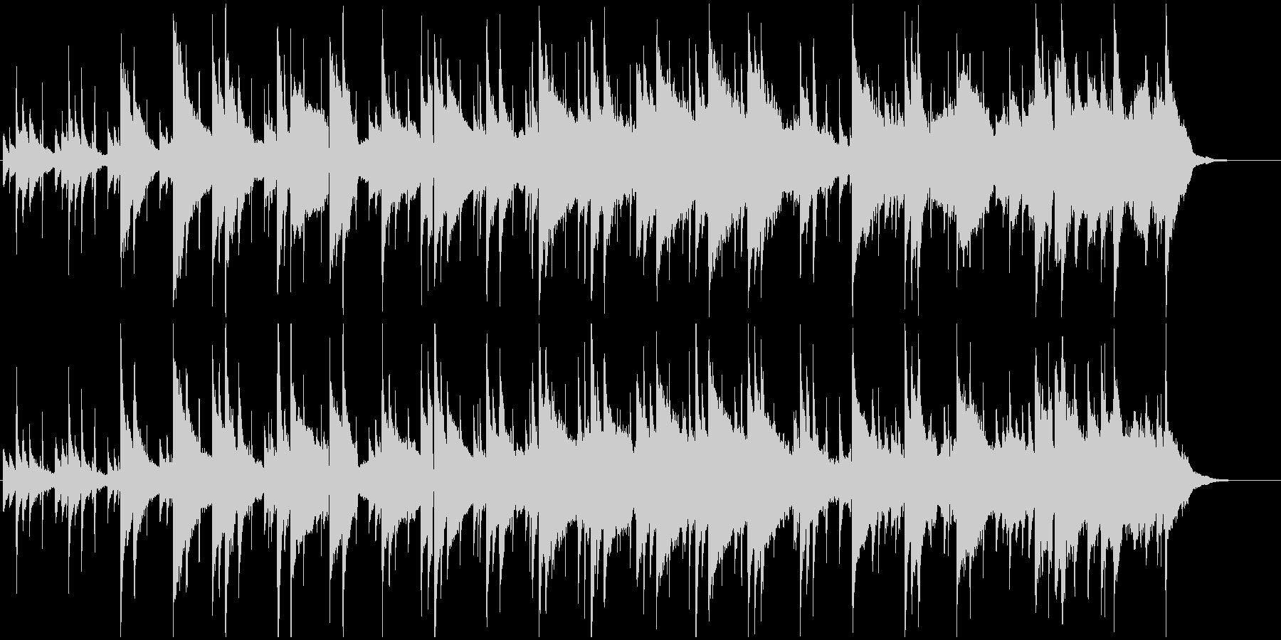 暖かみのあるシンプルで優しいメロディの未再生の波形