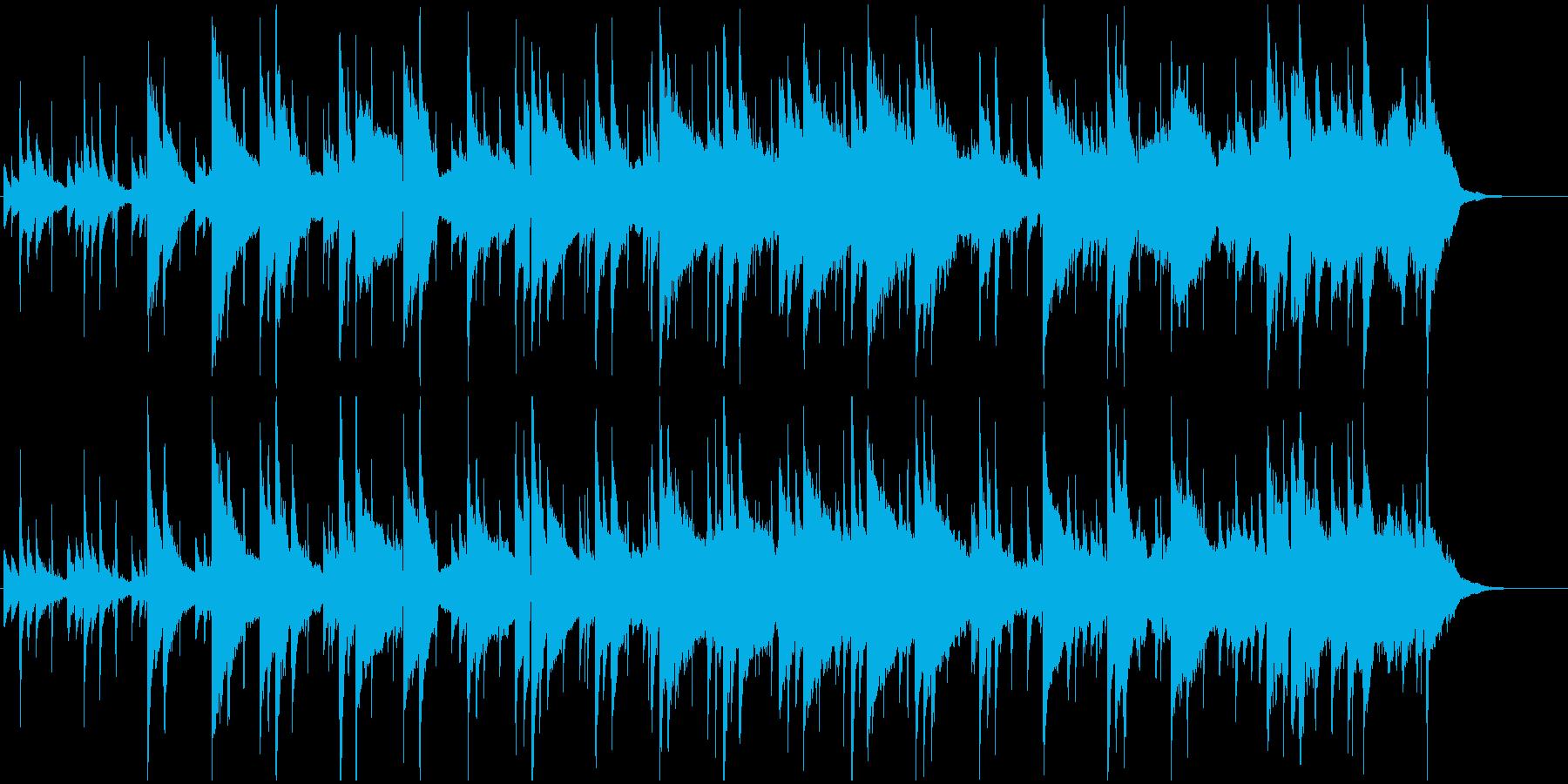 暖かみのあるシンプルで優しいメロディの再生済みの波形