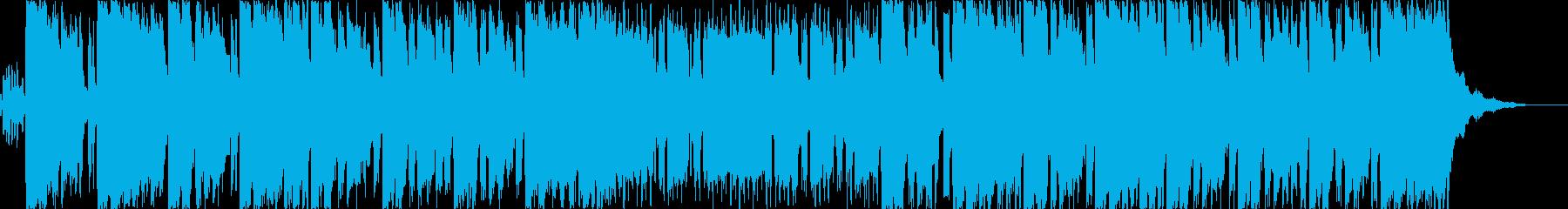 インドや中近東アフリカ的なエスニック曲の再生済みの波形