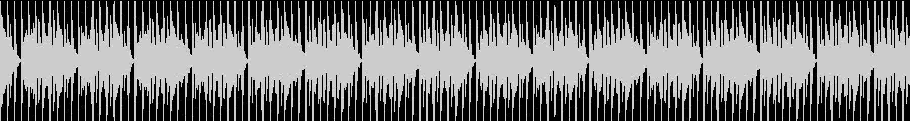 シンプルなダンスビートのループの未再生の波形