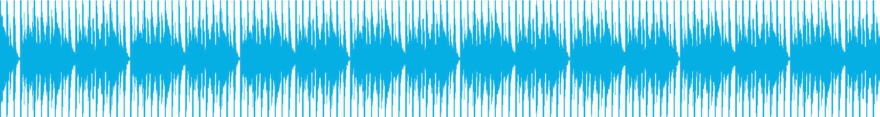 シンプルなダンスビートのループの再生済みの波形